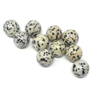 Dalmatian Jasper 20mm Spheres 10 pack All Polished Crystals bulk dalmatian jasper