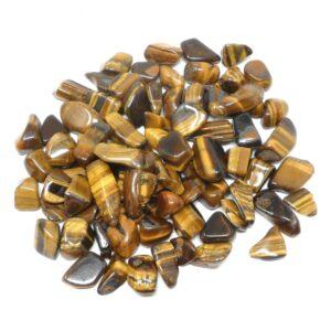 Tiger Eye tumbled md 16oz All Tumbled Stones bulk crystals