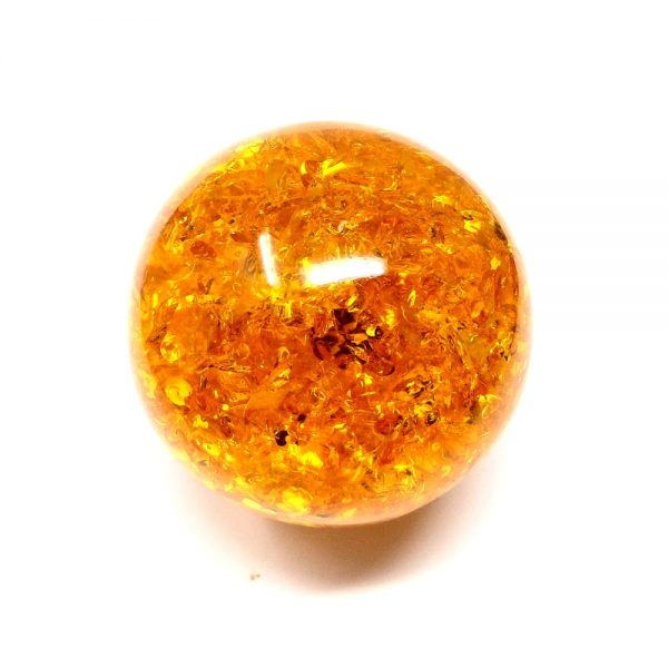 Amber Sphere 60mm All Polished Crystals amber