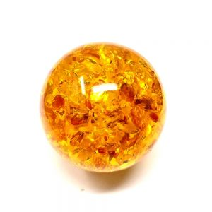 Amber Sphere 60mm Polished Crystals amber