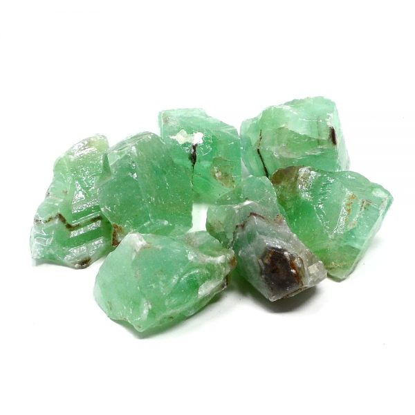 Calcite, Apple Green, lg 16oz All Raw Crystals apple green