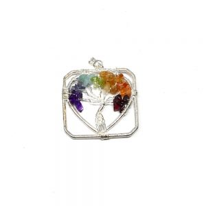 Chakra Tree of Life Pendant All Crystal Jewelry ametyst pendant