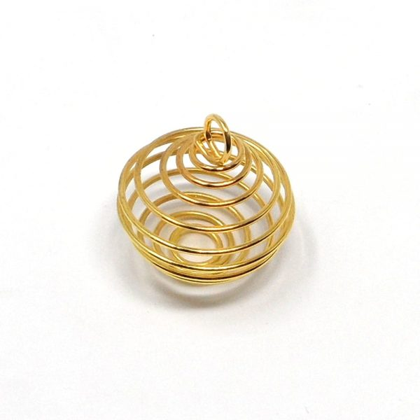 Wire Cage, Gold Rounded All Crystal Jewelry cage