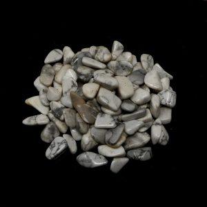 Howlite sm tumbled 8oz All Tumbled Stones bulk howlite