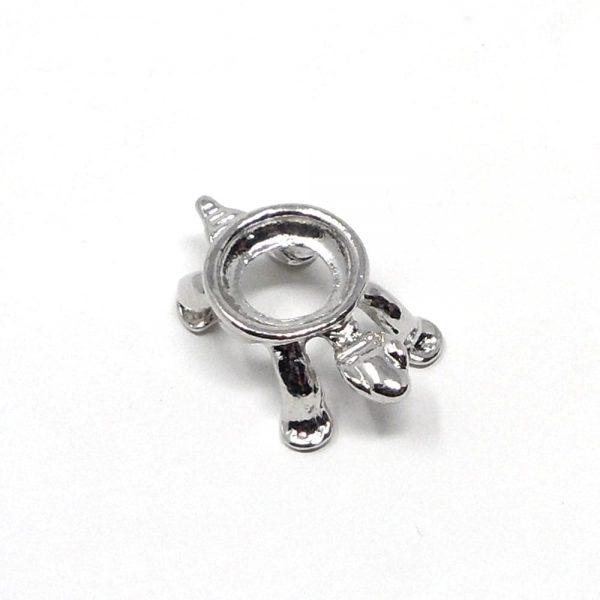 Silver colored turtle sphere stand – mini Accessories gold sphere stand