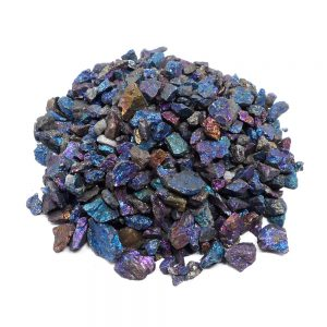 Peacock Ore 16oz Raw Crystals chalcopyrite
