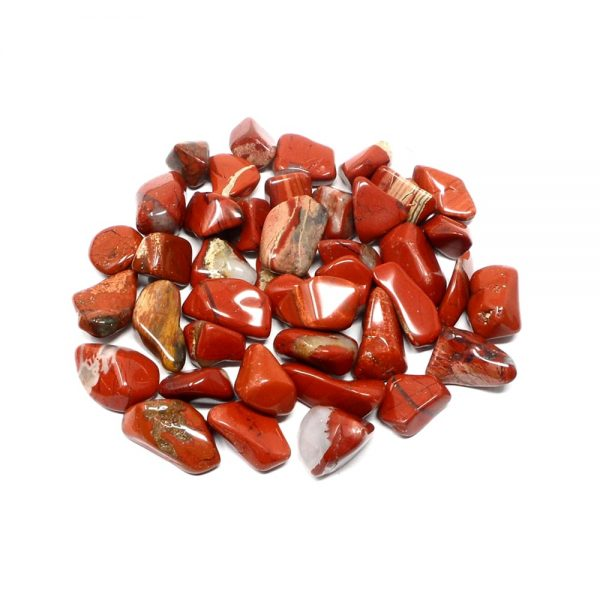Red Jasper sm tumbled 8oz All Tumbled Stones bulk red jasper