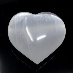 Selenite Heart Polished Crystals heart