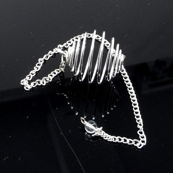 Wire Cage, Silver Rounded with Chain All Jewellery