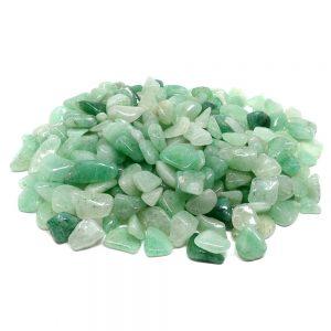 Aventurine, Green, tumbled, sm 16oz All Tumbled Stones