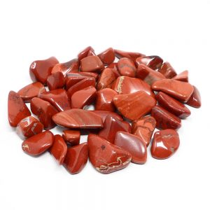 Jasper, Red, tumbled, lg 16oz Tumbled Stones jasper