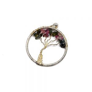 Tourmaline Tree of Life Pendant Crystal Jewelry pendant