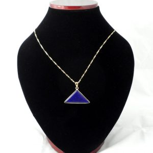 Bronze Lapis Pendant Crystal Jewelry bronze