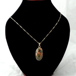 Bronze Unakite Pendant All Crystal Jewelry bronze