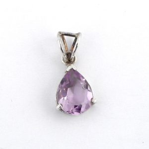 Amethyst Teardrop Pendant All Crystal Jewelry amethyst