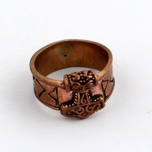 Bronze Carved Ring Size 9