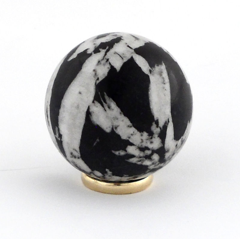 Chrysanthemum Stone, Sphere, 40mm All Polished Crystals chrysanthemum stone