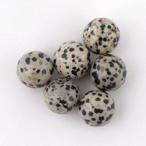 Jasper, Dalmatian, Sphere, 20mm