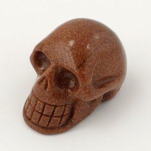 Goldstone, Skull All Polished Crystals goldstone