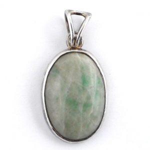 Jadeite Oval Pendant Crystal Jewelry jadeite