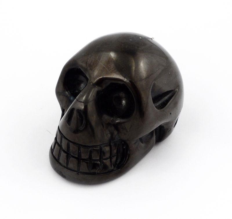 Jet Skull All Polished Crystals jet