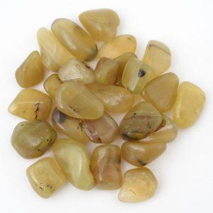 Opal, Olive, tumbled, 4oz All Tumbled Stones olive opal