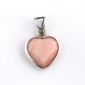 Pink Opal Heart Pendant Crystal Jewelry heart
