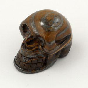 Tiger Iron Skull Polished Crystals skull