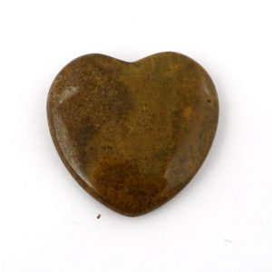 Jasper, Yellow, Heart All Polished Crystals heart