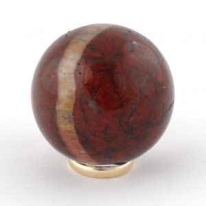 Jasper, Brecciated, Sphere, 40mm All Polished Crystals 40mm