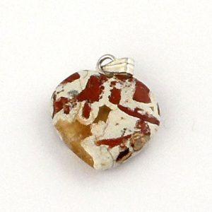 Poppy Jasper Heart Pendant All Crystal Jewelry heart