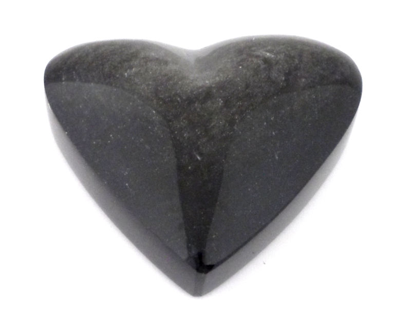 Obsidian, Silver Sheen, Heart All Polished Crystals heart
