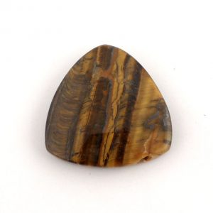 Drilled Tiger Eye Reuleaux Triangle Pendant All Jewellery