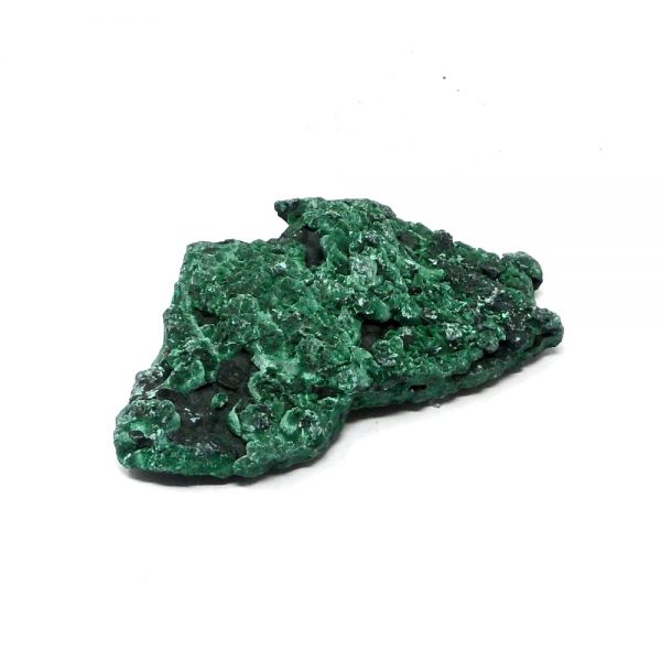 Fibrous Malachite Mineral Specimen All Raw Crystals crystal cluster