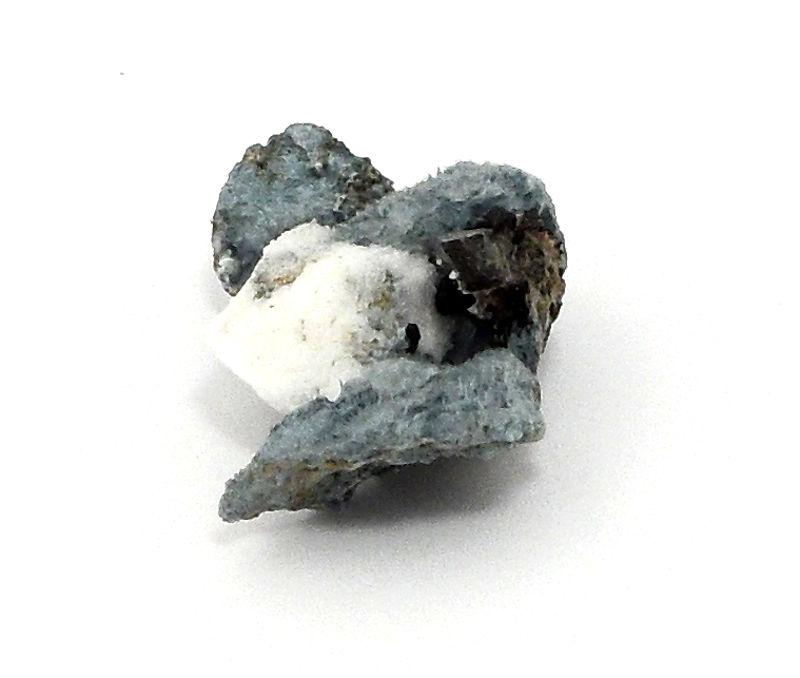 Neptunite and Natrolite on Crossite Mineral Specimen All Raw Crystals crossite