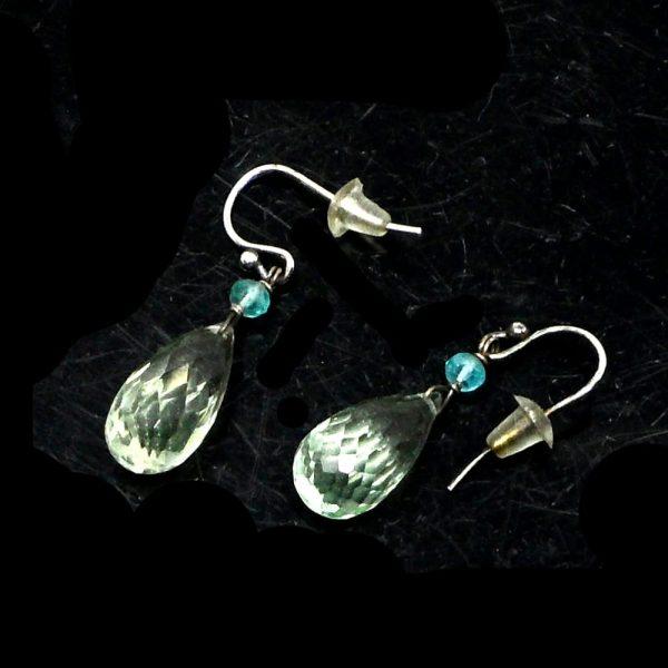 Aquamarine & Apatite Earrings All Crystal Jewelry apatite earrings