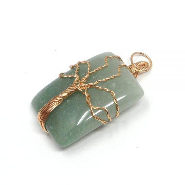 Green Aventurine Copper Pendant All Crystal Jewelry aventurine