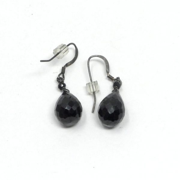 Black Spinel Earrings All Crystal Jewelry black spinel