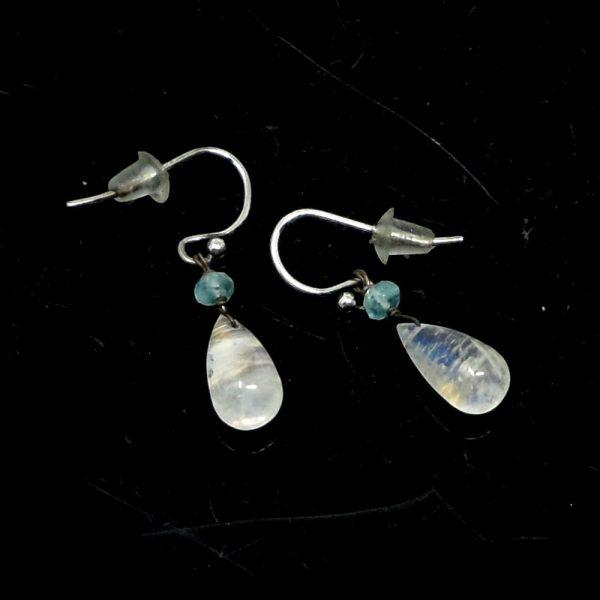 Rainbow Moonstone Earrings All Crystal Jewelry blue apatite earrings