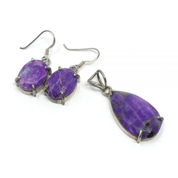 Sugilite Jewelry Set All Crystal Jewelry pendant