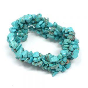 Enhanced Turqoise 5-Strand Chip Bracelet All Crystal Jewelry bracelet