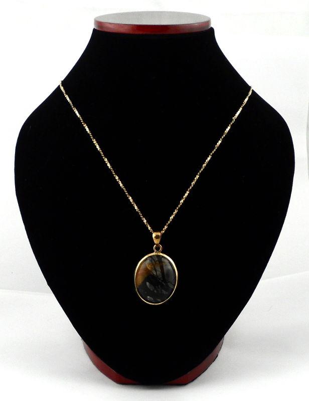 Picasso Stone Bronze Pendant All Crystal Jewelry bronze