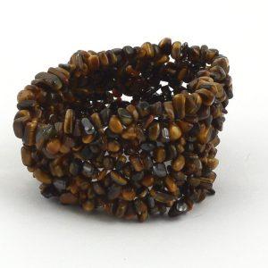 Tiger Eye XQ Wide Mesh Chip Bracelet Crystal Jewelry bracelet