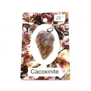 Wire Wrapped Pendant, Cacoxenite All Crystal Jewelry amethyst pendant