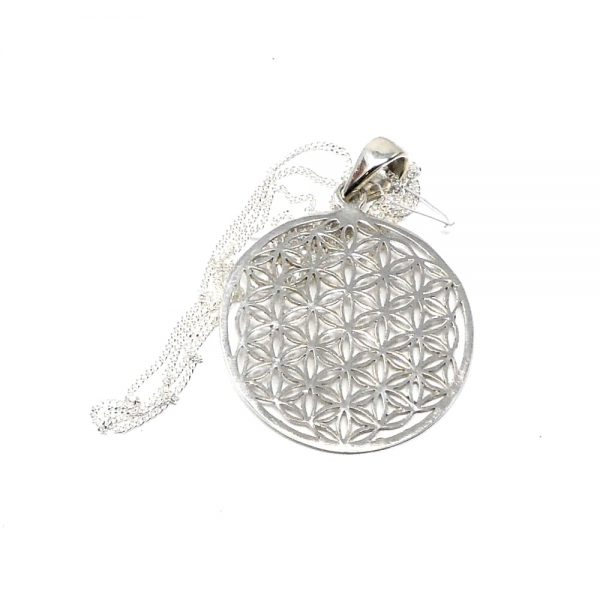 Flower of Life Pendant All Crystal Jewelry flower of life