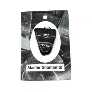 Wire Wrapped Pendant, Master Shamanite All Crystal Jewelry black calcite