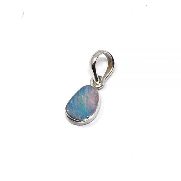 Fire Opal Pendant All Crystal Jewelry blue opal pendant