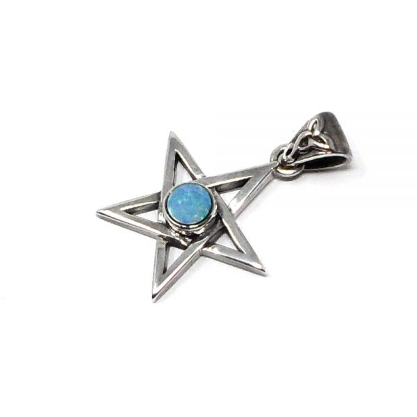 Opal Star Pendant All Crystal Jewelry blue opal pendant