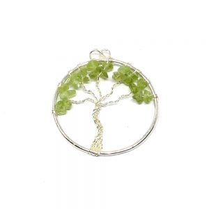 Peridot Tree of Life Pendant All Crystal Jewelry crystal pendant