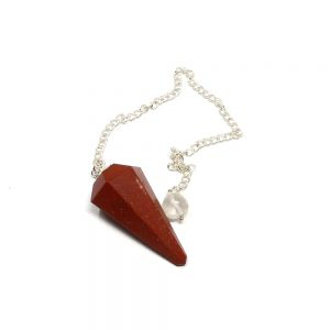 Red Jasper Point Pendulum All Specialty Items crystal pendulum